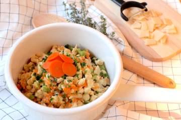 Spätzle mit Karotten-Sellerie-Sauce