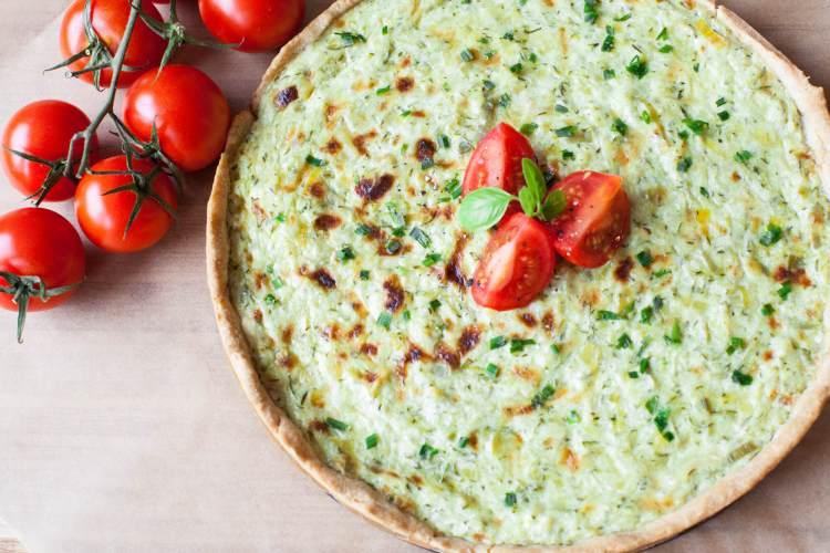 Lauch-Zucchini-Kuchen