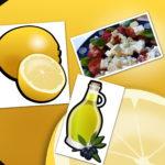 Olivenöl, Feta und Zitrone
