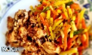 Juliennegemüse mit Huhn