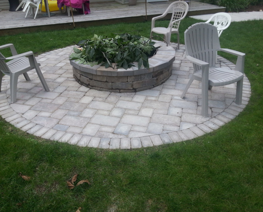 Brick Paver Installation Services - Beautifully Designed ... on Pavers Patio With Fire Pit id=26753