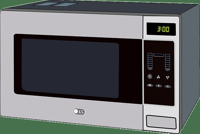 Mikrowelle mit Grill Pizza machen