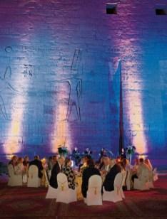 Aegypten, Luxor, Hlkf Kreuzflug, Farewell Galadinner im Habu Tempel