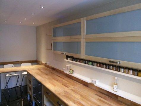 Modul-Küche aus Birkenholz
