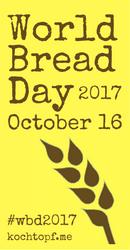 World Bread Day, October 16, 2017