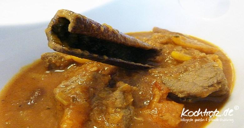 Lammcurry mit Aprikosen