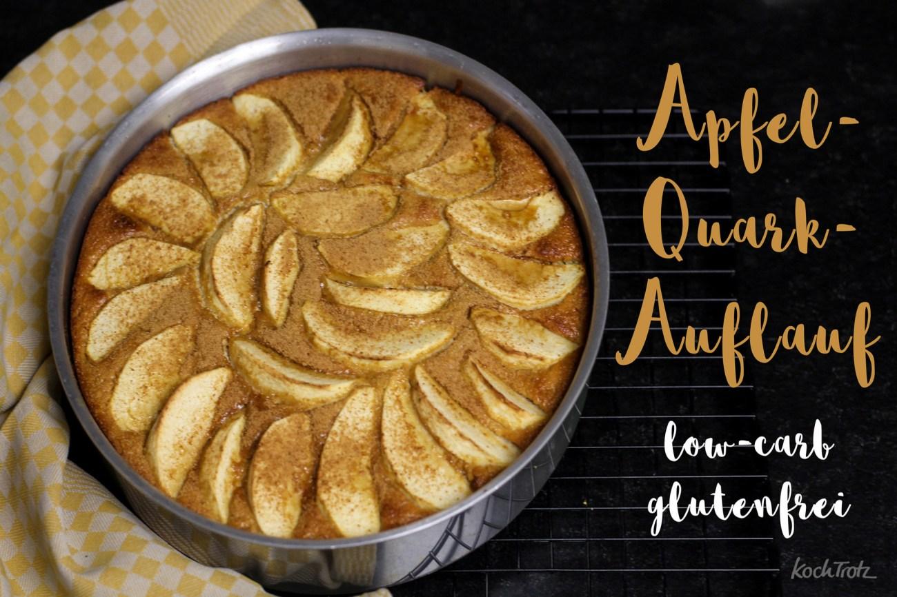 Apfel-Quarkauflauf glutenfrei und low-carb oder auch nicht ;)