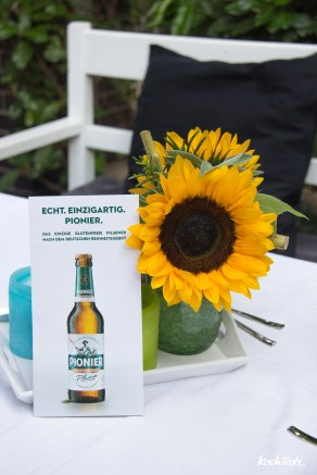 Grillparty mit Pionier glutenfreies Pilsener
