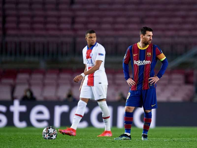 Messi sets record for Barca appearances, Mbappe leads PSG to the top