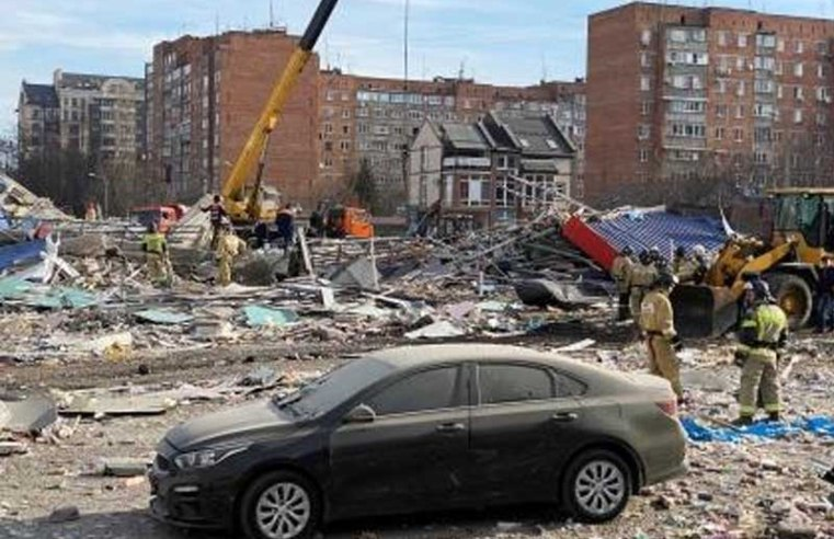 Explosion destroys supermarket building in southern Russia