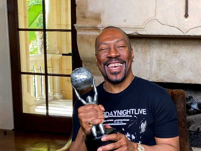 Eddie Murphy 'very moved' by Hall of Fame honour at NAACP Image Awards