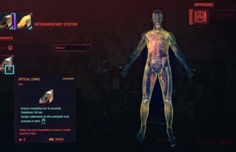 Cyberpunk 2077 New Mod Restores Optical Camo Cut Cyberware