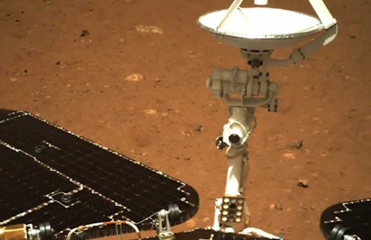 China reveals first Mars photos taken by the Zhurong rover