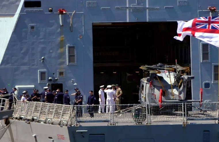 Russia says it fired warning shots at British destroyer in Black Sea