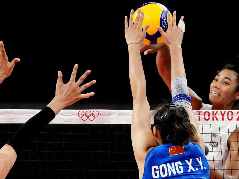 US women's volleyball hands China 2nd straight loss