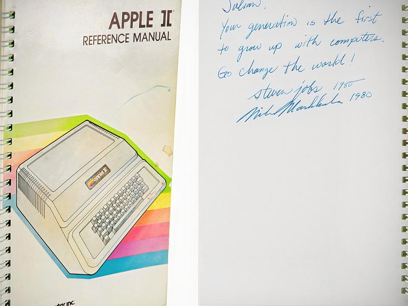 Apple II Manual from 1980 Signed by Steve Jobs and Mike Markkula Sells for $787,484