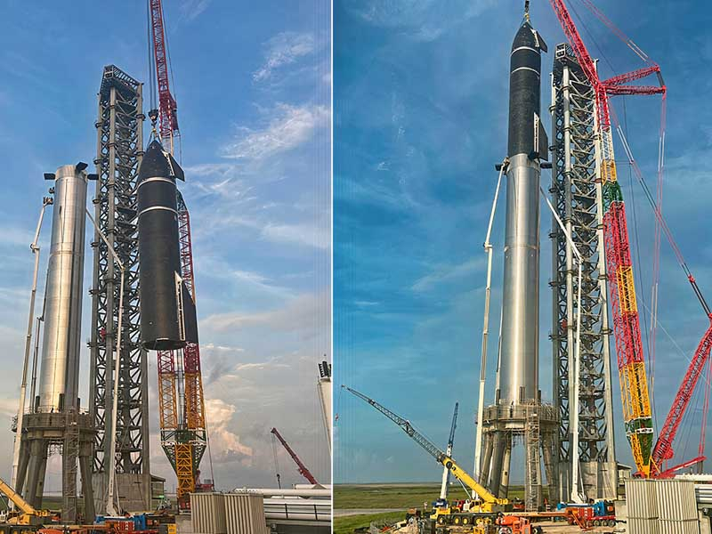 SpaceX Creates World's Tallest Rocket by Stacking Starship and Super Heavy Booster