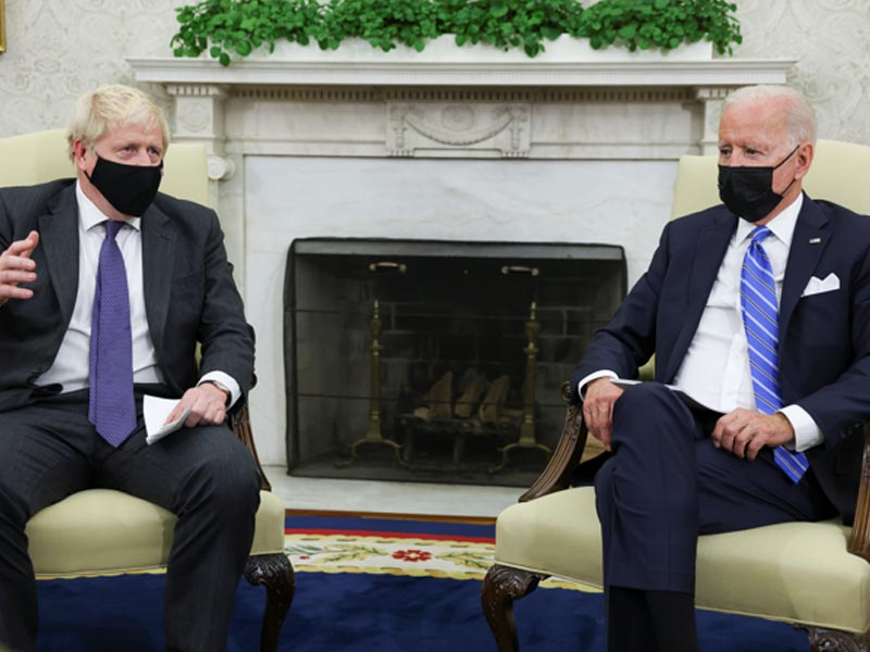 Biden, UK's Johnson talk trade and trains in White House meeting