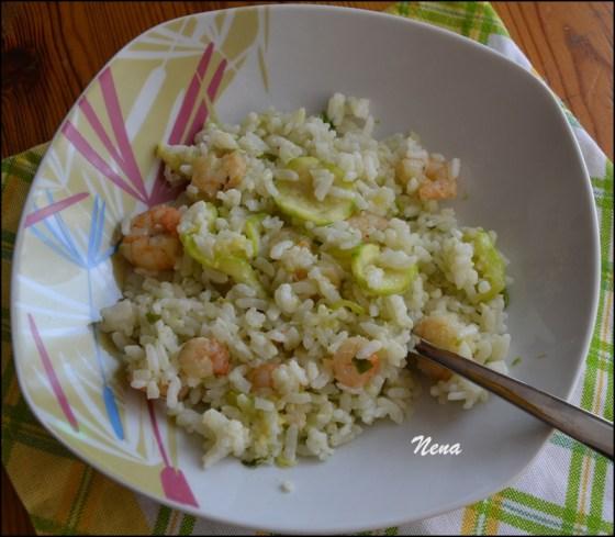 rižoto od gambera i tikvica