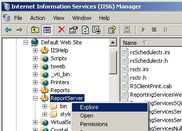 Microsoft SQL Report Server and iis