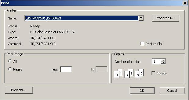 sql reporting services print dialog box