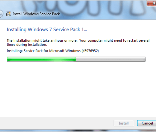 Installing Service Pack For Microsoft Windows Kb976932