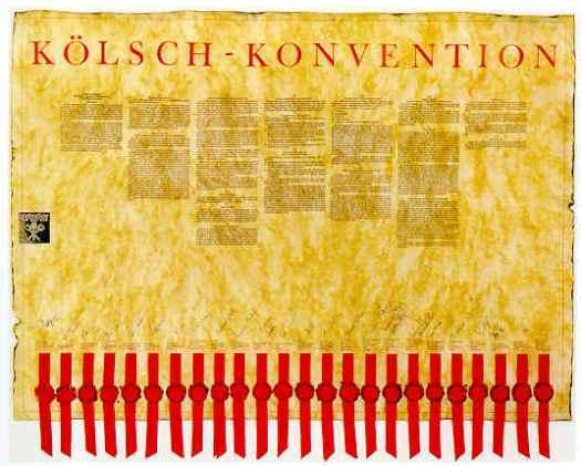 Mit Siegel: Die Kölsch-Konvention der Kölner Brauer, Bild: Kölner Brauerei-Verband e.V.
