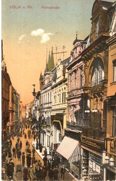 Die Hohe Straße im Jahr 1912