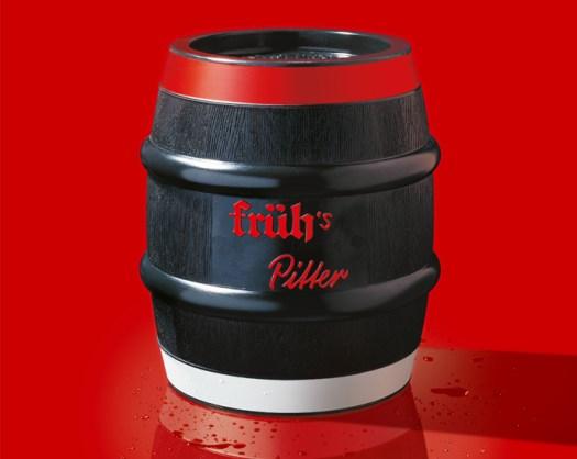 """Das 10 Liter-Fass von Früh trägt den Namen """"Pitter"""", Bild: Früh Kölsch"""