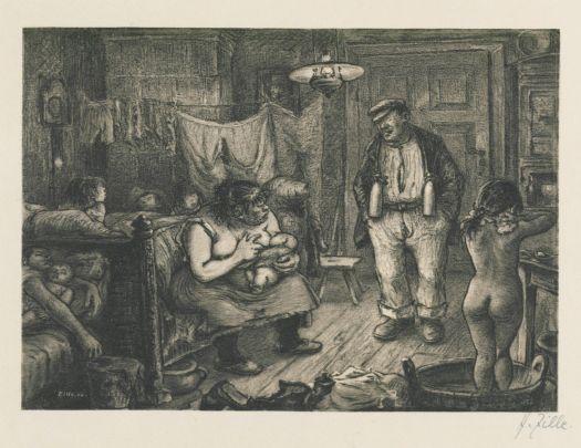Der Maler Heinrich Zille hat es dokumentiert: Im 19. Jahrhundert ist es völlig normal dass in einem einzigen Zimmer geschlafen, gegessen und sich gewaschen wird.