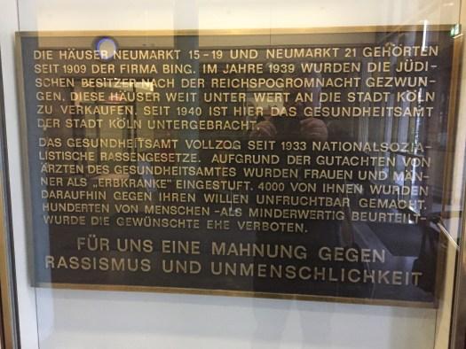 Gedenkplakette im Bing-Haus, Bild: Uli Kievernagel