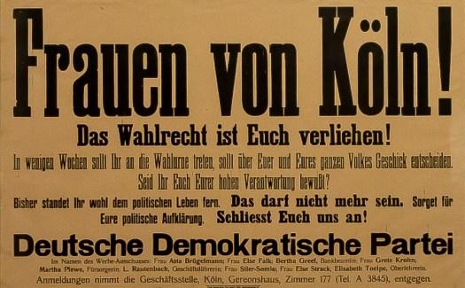 Else Falk hat diesen Aufruf für die Durchsetzung des Frauenwahlrechtes unterzeichnet, Bild: Raimond Spekking