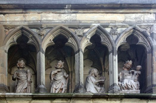Die Heiligen Drei Könige und Maria mit dem Jesuskind, Detailansicht des Dreikünnijepöötzche, Foto: HOWI - Horsch, Willy, CC BY 3.0