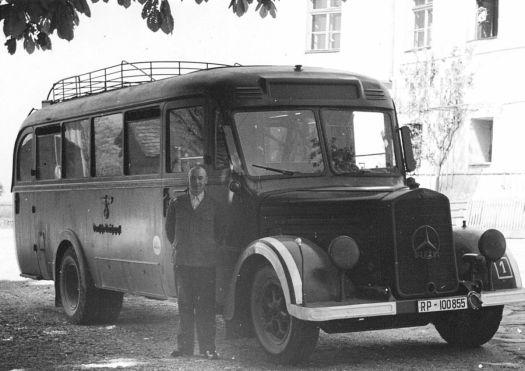 Ein GEKRAT Bus, ursprünglich von der Deutschen Reichspost, benutzt. Bild: Dokumentationsstelle Hartheim