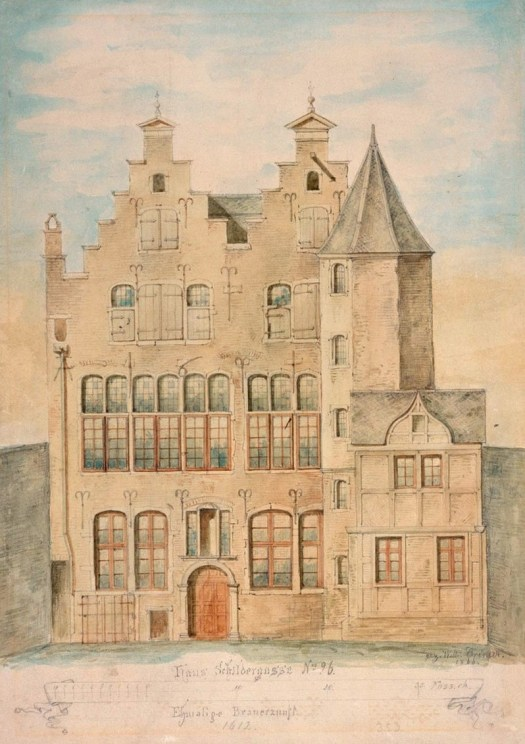 Haus Mirweiler, das Zunfthaus der Kölner Brauer in der Schildergasse, Bild: unbekannter Künstler
