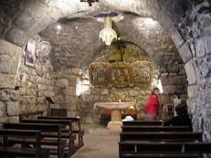 """Die Ananias-Kapelle ist ein altes chrsitliches Bauwerk in Damskus und Rafik Schamin gut bekannt.  """"Namensnennung – Weitergabe unter gleichen Bedingungen 3.0 nicht portiert"""" (kein Name angegeben)"""