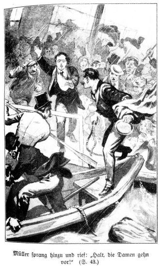 Der vorgebliche Lehrer Müller versucht, für Marion und Nanon das Rettungsboot zu bekommen.