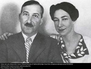 """Das """"offizielle"""" Foto des Ehepaars Stefan und Lotte zweig - Alberto Dines interpretiert in seiner Biographie die Körpersprache der beiden"""
