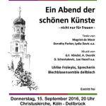 Schöne Künste – nicht nur für Frauen am 15.9.2016 in Dellbrück
