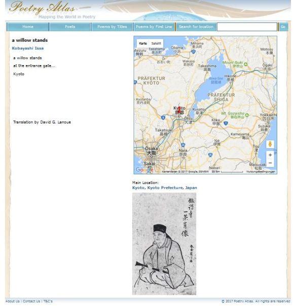 Poetry Atlas Issa Haiku Koyto