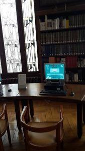 Carnegie-Bibliothek Reims, Möbel Lesesaal, Foto: Heike Baller