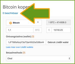 Litebit 0 munten beschikbaar