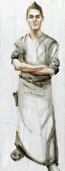 Waiter | Acrylic on wooden panel | 60x120 cm