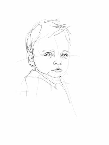 Sem | digital drawing to commission | portret opdracht