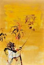 Flowers in Vase Yellow| Acrylic on wooden panel | 90x120 cm