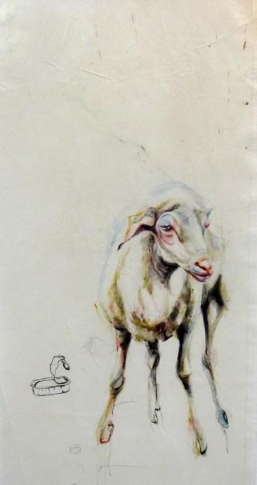 Sheep Oveja | painting on sail
