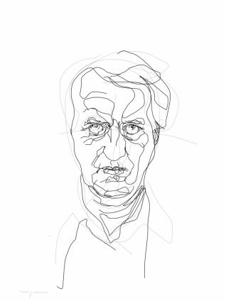 Gerrit Komrij   digital drawing   prints available