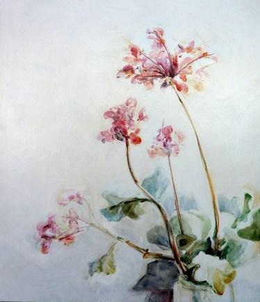 Finca Flowers 02| Acrylic on wooden panel | 70x80 cm | Kunstuitleen Alkmaar