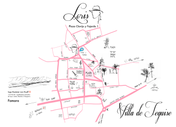 Map of Teguise for Loris Teguise Lanzarote