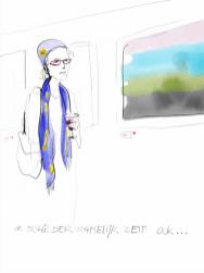 I am a painter myself Illustration